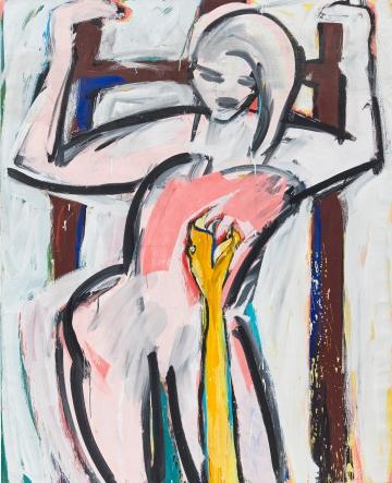 Elvira Bach, Nur eine Schlange 1982 Polyester resin paint on canvas