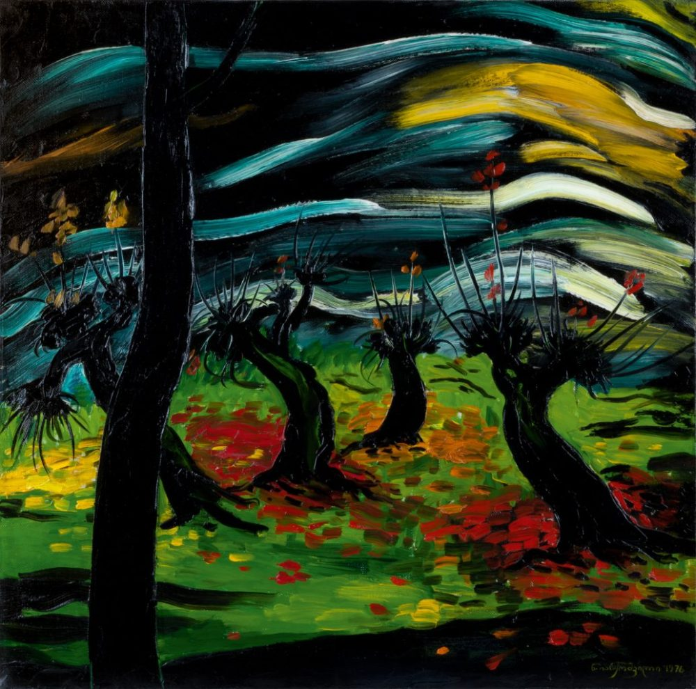 Natela Iankoshvili, Autumn at Kiziki, 1976, oil on canvas